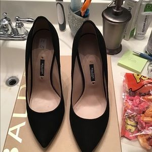 BNIB Black Suede Pumps